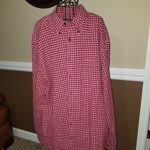Red Plaid Buttoned Shirt